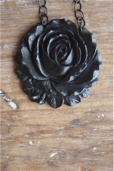 Ebony Rosette Necklace