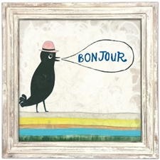 Bon Jour White Wood - 24x24