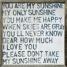 You Are My Sunshine - 25x25