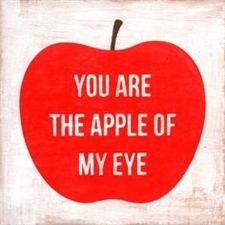 You Are the Apple of My Eye 24x24