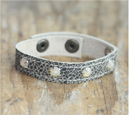 Metallic Grey Stacker Cuff Bling - SALE
