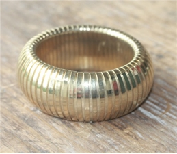 Accordion Gold Cuff