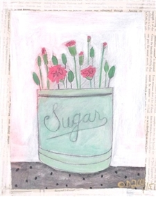 Sugar Carnations - 8x10 - SALE