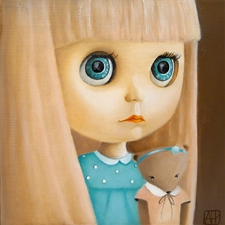 Blythe Loves Teddy - 8x8 - SALE