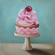 Cherry Jubilee Joy Cupcake – 8x8 - SALE