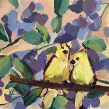 Two Yellow Birds – 10x10 - SALE