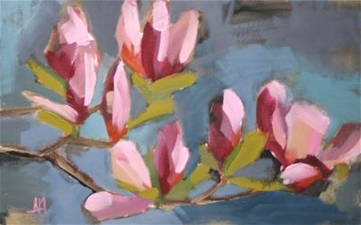 Magnolia on Blue – 10x16 - SALE