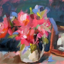 Blooms in Pitcher – 12x12 - SALE