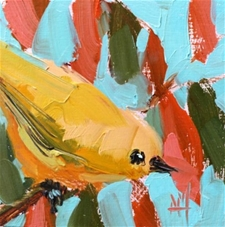 Yellow Warbler no. 115 - 5x5 – SALE