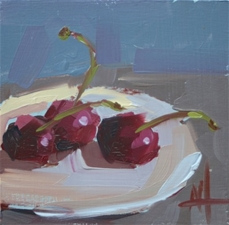 Three Cherries - 5x5 - SALE