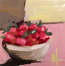 Bowl of Strawberries - 6x6
