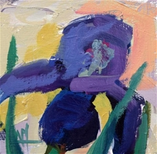 Purple Iris No.2 –6x6 - SALE