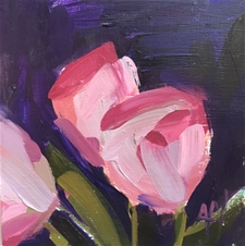 Pink Tulips No.5 – 6x6 - SALE