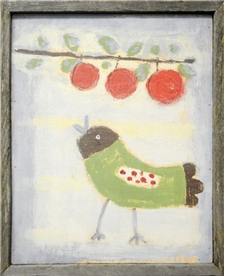 Bird with Cherries 18x22