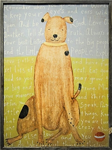 Brown Dog Large 36x48
