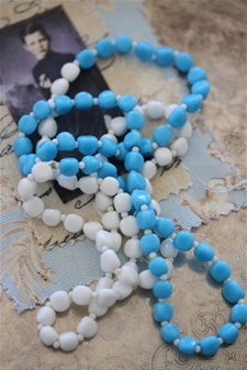 Sky & Clouds Vintage Necklace - SALE