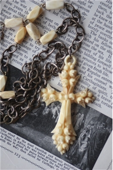 Ivory Carved Cross