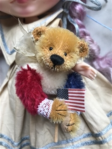 The Flag Barrier - 9/11 Bear Brooch
