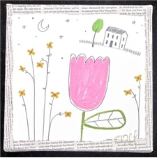 Happy Pink Tulip - 8x8 - PROMO PRICE