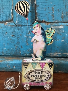A Dear Flying Piggy Pull Toy