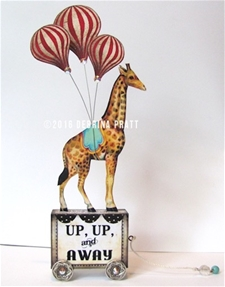 Up & Away Giraffe Pull Toy