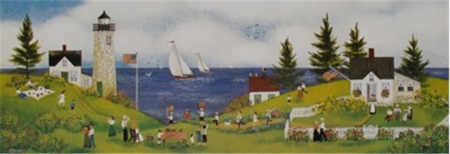 July 4th By the Sea 5.5x15 - SALE
