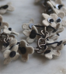 Flower Fall Charcoal Chain - SALE