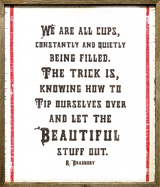 We Are All Cups Dark Wood - 25x29