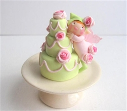 Cake Fairy - Lime & Roses Pixie