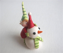 Christmas Pixie - Mistletoe Pal & Snowman