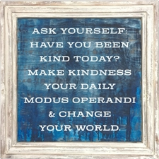 Ask Yourself - White Wood Frame – 3'x3'