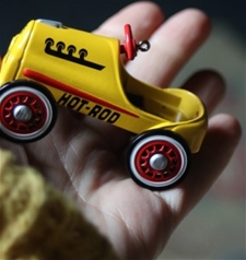 Mini Yellow Hot Rod - Vintage