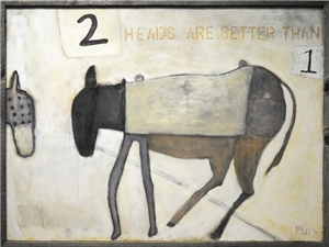 Two Heads are Better 48x36