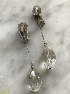 Vintage Dangle Crystal Clips - SALE