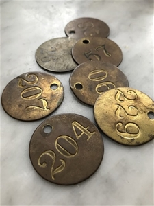 Vintage Locker Tags