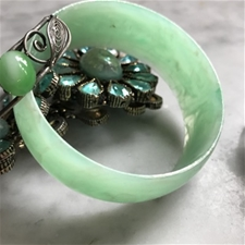 Vintage Seafoam Cream Bangle - SALE