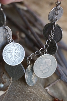 Antique Coin Charm Bracelet