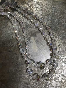 Fine Crystal Duet Vintage Necklace - SALE