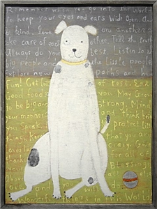 White Dog Small 27x35