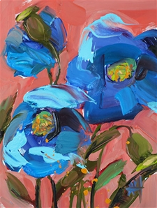 Blue Poppies no. 4 - 6x8