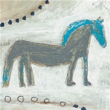 Horse With Blue Mane - 12x12