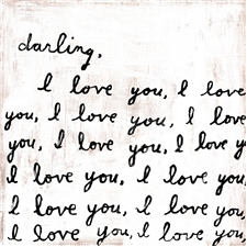 Darling, I love You - 12x12