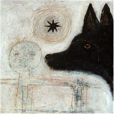 Dog with Wheel - 12x12