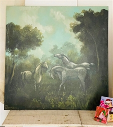Filly Folly Trio - 36x36