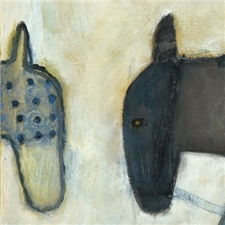 Two Horses - 12x12